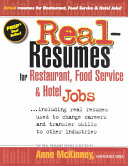 Real-resumes for Restaurant, Food Service & Hotel Jobs--