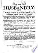Cheap and Good Husbandry Book