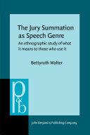 The Jury Summation as Speech Genre [Pdf/ePub] eBook
