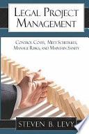 Legal Project Management Book PDF