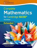 Extended Mathematics for Cambridge IGCSE® with CD-ROM (Third Edition)
