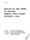 Results of the third U S  manned orbital space flight  October 3  1962