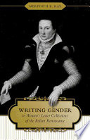 Writing Gender In Women S Letter Collections Of The Italian Renaissance