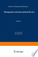 Management and International Review