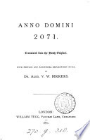 Anno Domini 2071 [by P. Harting] tr. with preface and notes by A.V.W. Bikkers