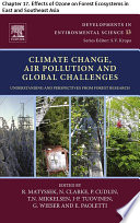 Climate Change  Air Pollution and Global Challenges Book