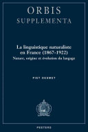 La linguistique naturaliste en France (1867-1922)