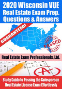 2020 Wisconsin VUE Real Estate Exam Prep Questions   Answers