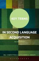 Key Terms in Second Language Acquisition Pdf/ePub eBook