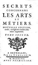 Secrets Concernans Les Arts & Metiers
