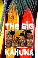 The Big Kahuna  Hawaii Tiki Bar Retro Vibes Aloha Fishing Surfboards Shark Men s White Paper College Ruled Lined Notebook Journal Glos
