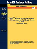 Outlines and Highlights for Discrete Mathematics and Its Applications with Mathzone by Kenneth H Rosen  Isbn