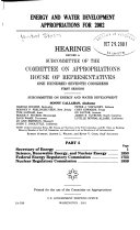 Energy and Water Development Appropriations for 2002