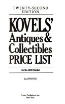 Kovels  Antiques and Collectibles Price List Book PDF
