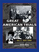 Great American Trials  1637 1949 Book PDF