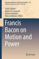 Pdf Francis Bacon on Motion and Power Telecharger