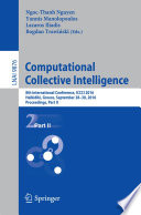 Computational Collective Intelligence  : 8th International Conference, ICCCI 2016, Halkidiki, Greece, September 28-30, 2016. Proceedings , Teil 2
