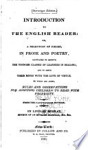 Introduction To The English Reader Or A Selection Of Pieces In Prose And Poetry Book