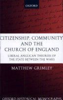 Citizenship, Community, and the Church of England