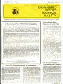 Endangered Species Technical Bulletin