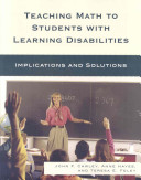 Teaching Math to Students with Learning Disabilities