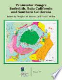 Peninsular Ranges Batholith  Baja and Southern California