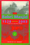 The Babri Masjid Question, 1528-2003