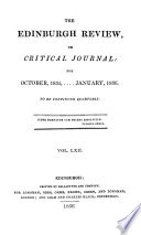 THE EDINBURGH REVIEW  OR CRITICAL JOURNAL  FOR OCTOBER 1835    JANUARY  1836