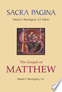 Sacra Pagina The Gospel Of Matthew