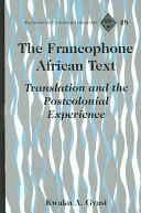 The Francophone African Text