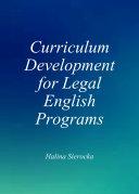 Curriculum Development for Legal English Programs