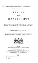 Report on the Manuscripts of Mrs  Frankland Russell Astley