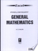 Excel Preliminary General Mathematics