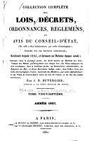 Collection complète des lois, décrets d'intérêt général, traités internationaux, arrêtés, circulaires, instructions, etc