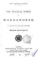 The poetical works of Wordsworth  Repr  of the 1827 ed   with memoir  notes  c Book