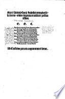Marci Antonij Coccij Sabellici exemploru[m] libri decem