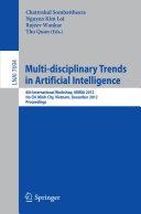 Multi-disciplinary Trends in Artificial Intelligence Pdf