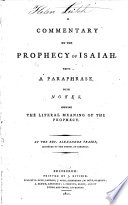 A Commentary on the Prophecy of Isaiah
