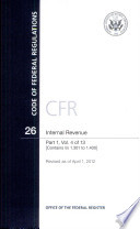 Code Of Federal Regulations Title 26 Internal Revenue Pt 1 Sections 1 301 1 400 Revised As Of April 1 2012