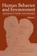 Human Behavior and Environment Pdf/ePub eBook