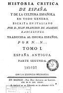 Historia critica de España y de la cultura española, 1 (2a part)