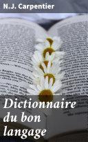 Pdf Dictionnaire du bon langage Telecharger
