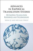 Advances in Empirical Translation Studies