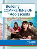 Building Comprehension in Adolescents