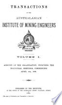 Transactions Of The Australasian Institute Of Mining Engineers