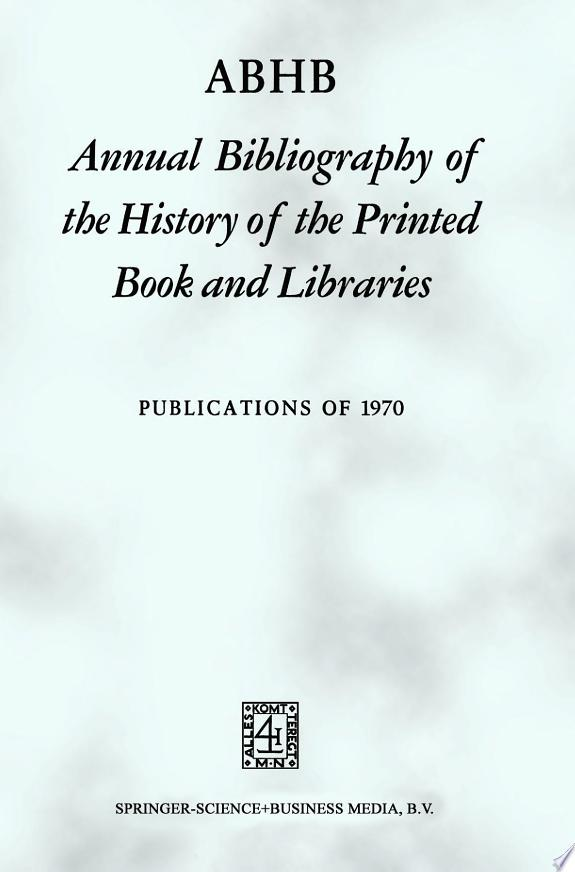 ABHB Annual Bibliography of the His