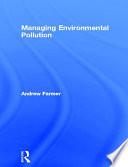 Managing Environmental Pollution Book PDF