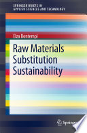 Raw Materials Substitution Sustainability Book