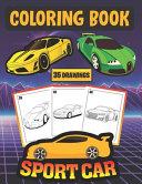 Sport Car Coloring Book  35 DRAWINGS