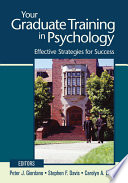 Your Graduate Training in Psychology